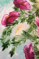 Blommor i skyn A4