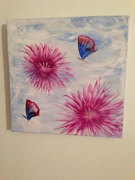 Fjärilar canvas