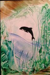Stämpel delfin A5